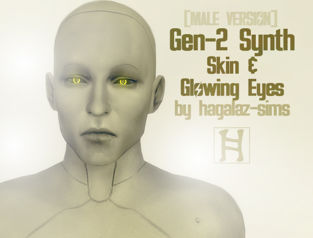 Fallout 4 - Nick Valentine -GEN-2 Synth Skin + Glowing Eyes by Hagalazsims