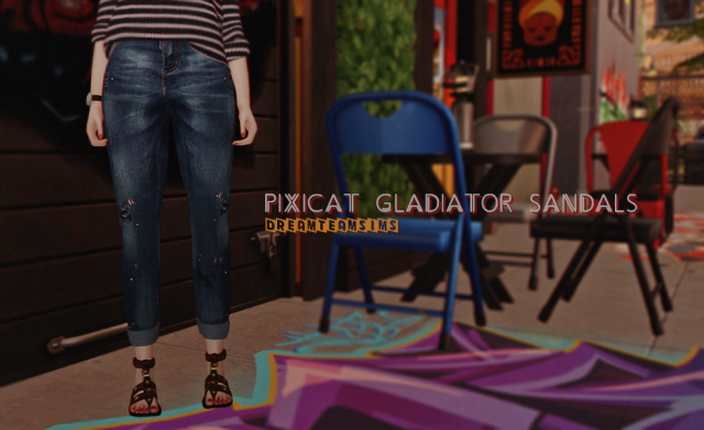 Pixicat Gladiator Sandals by DreamTeamSims