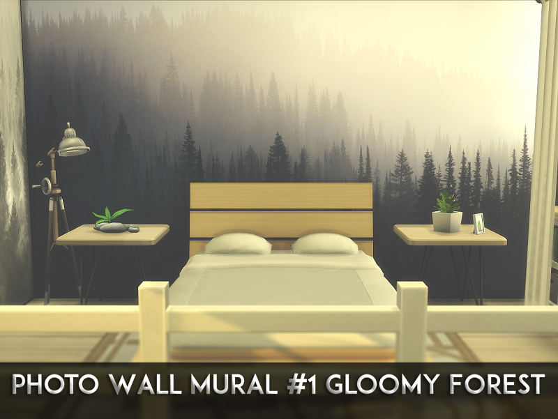 Photo Wall Mural #1 Gloomy Forest by Mellios