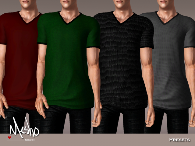 V-Neck long T-shirt by Nisuki