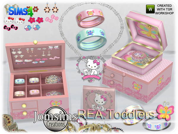 Rea toddlers deco jewelry box and clutters by jomsims