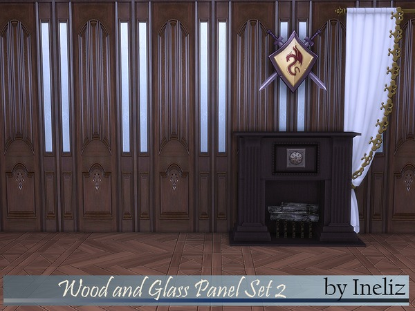 Wood and Glass Panel Set 2 by Ineliz
