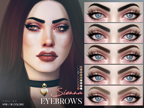 Sierra Eyebrows N119 by Pralinesims