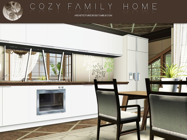 Cozy Family Home by Pralinesims