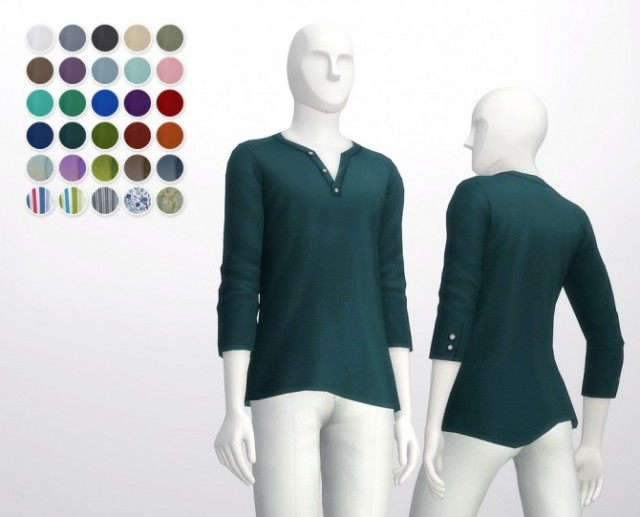 Half sleeve Henley neck t-shirt by Rusty Nail