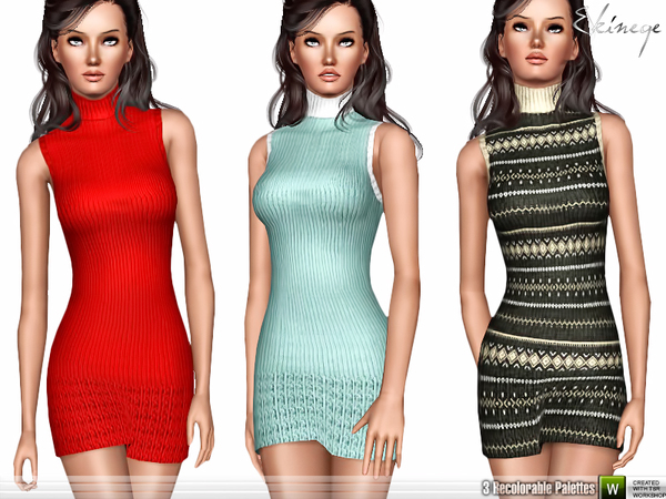 Sleeveless Knitted Dress by ekinege
