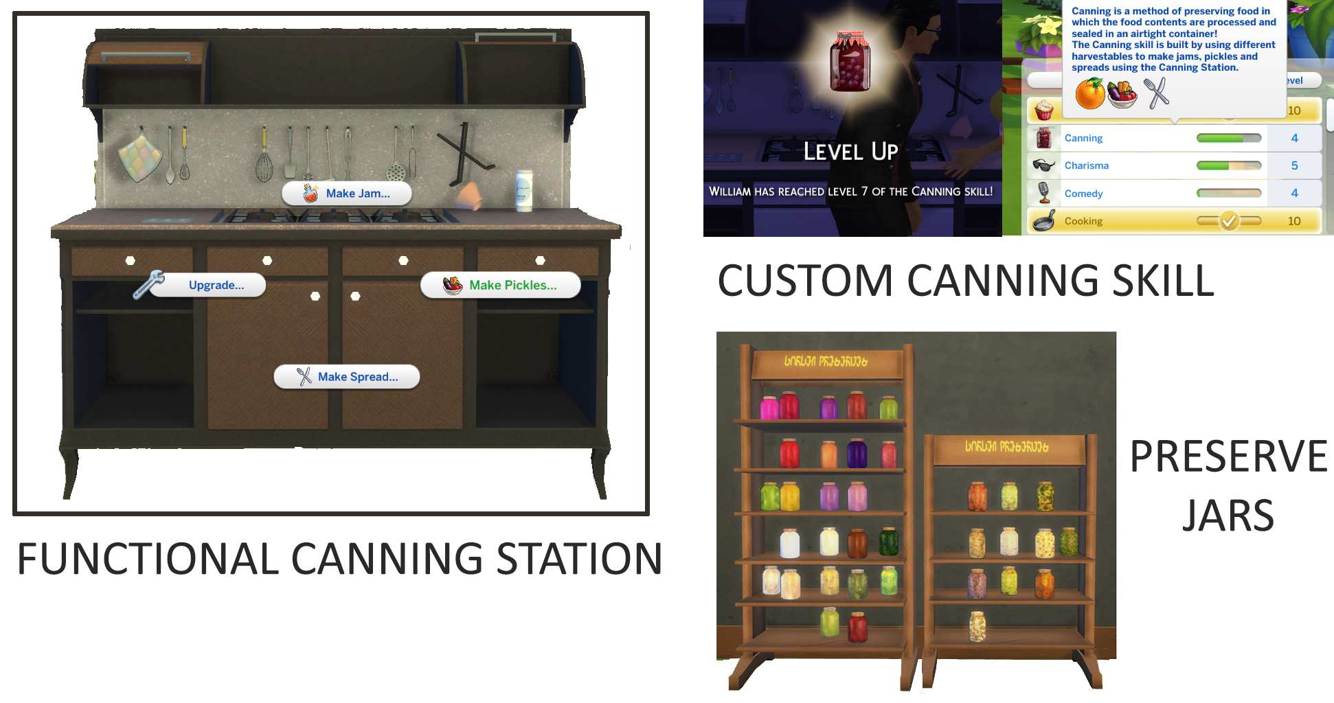 Functional Canning Station and Custom Canning Skill by icemunmun