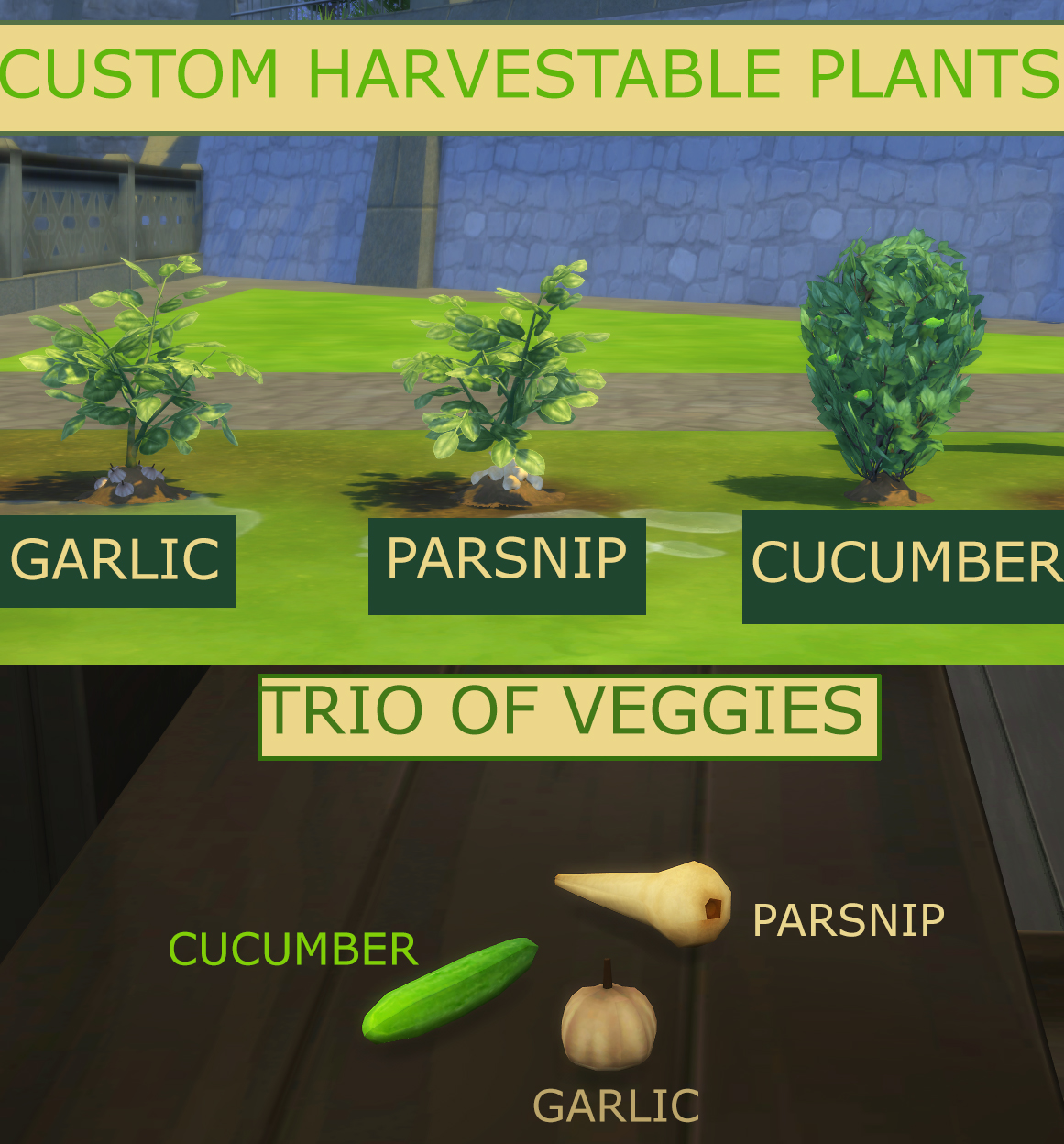 Trio of Veggies - Custom Garlic, Parsnip and Cucumber by icemunmun