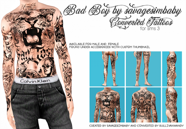 """SSB Bad Boy full body"" by savagesimbaby Converted Tattoos by sullivanwandy"