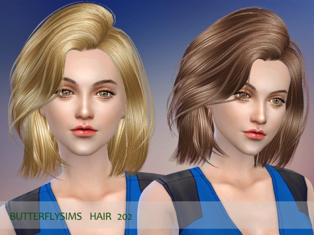 B-fly hair 202 by ButterflySims