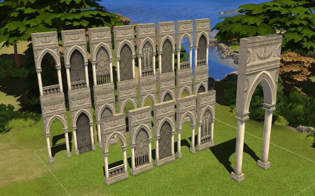 Gothic Arch-Structures (LunaSims) by Solistair