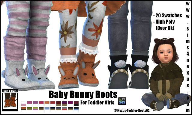 Baby Bunny Boots by Sims4Nexus