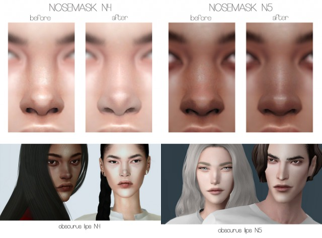 NOSEMASK N4 & 5 and LIPS N4 & 5 by obscurus