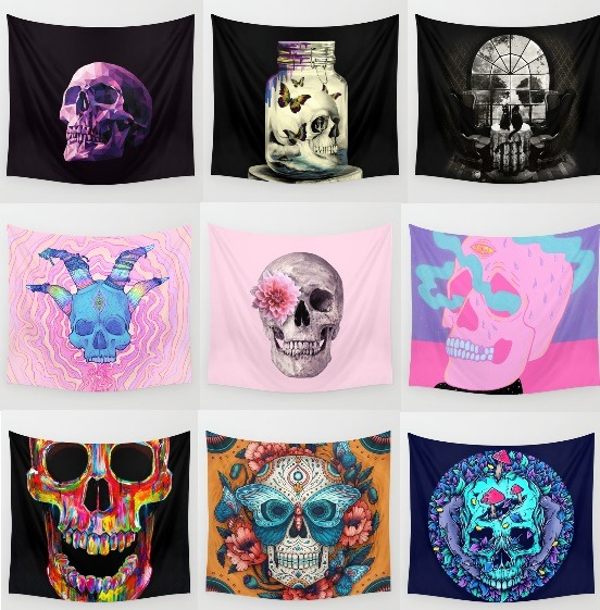 Skull tapestries by Sosobored