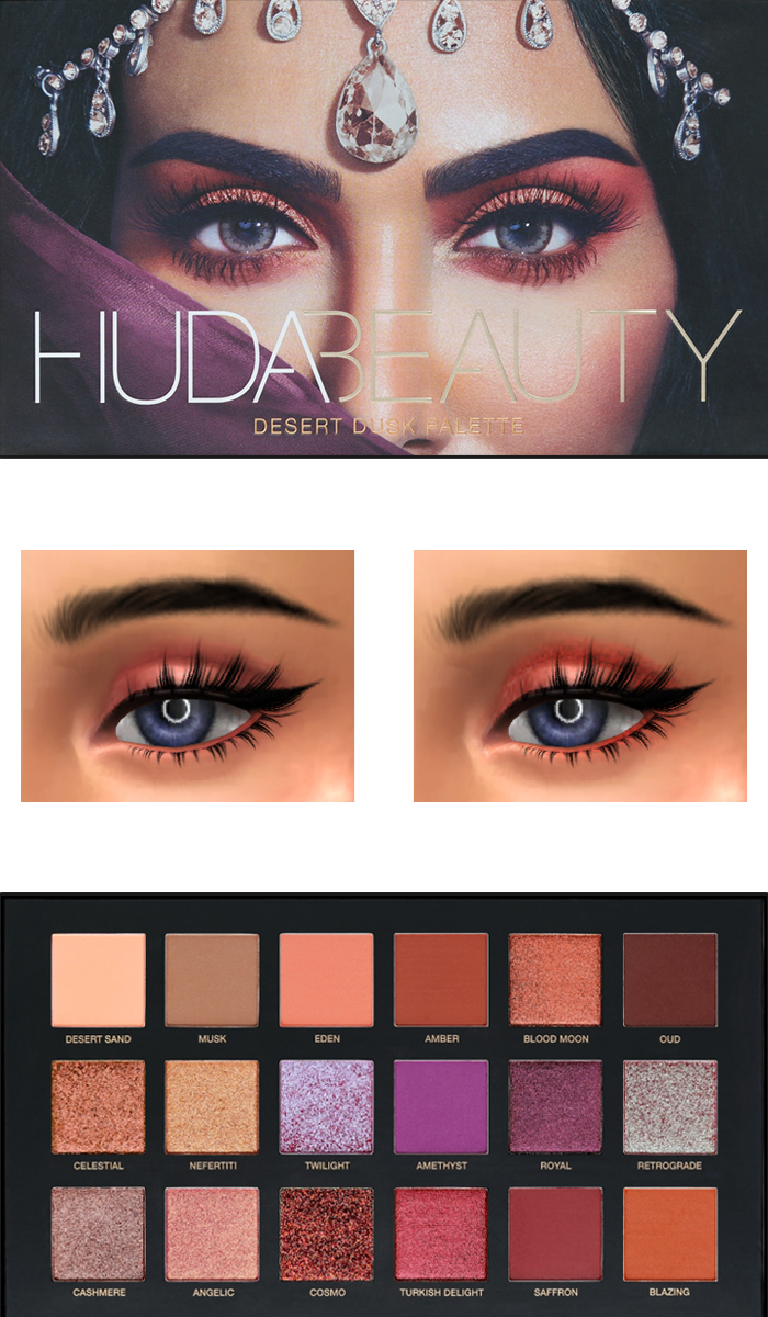 Huda beauty desert dark palette by Fifthscreations