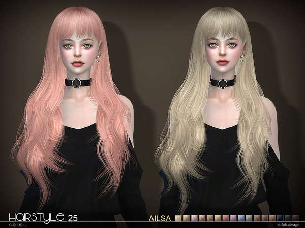 S-Club ts4 hair Ailsa n25