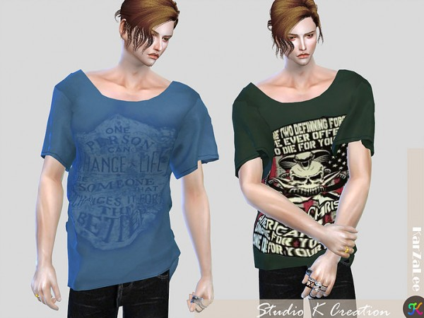 Giruto 33 Loose tee for male by Studio K Creation