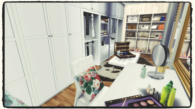Bedroom with closet by Dinha Gamer