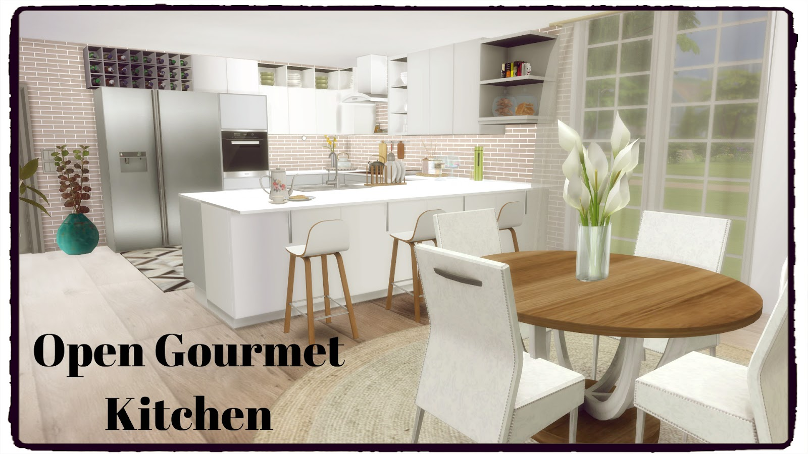 Open gourmet kitchen by Dinha Gamer