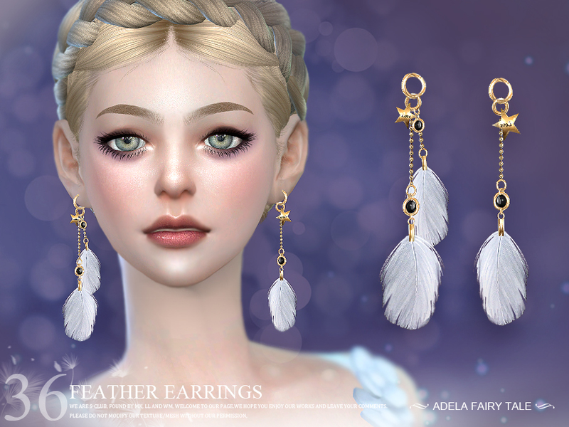 LL ts4 earring N36 by S-Club