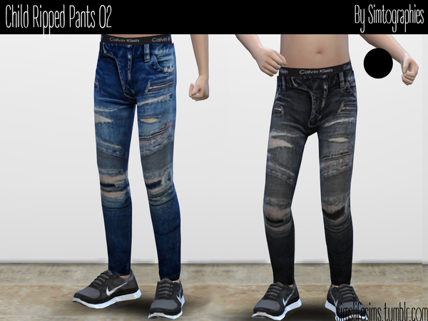 Child Ripped Pants 02 by simtographies