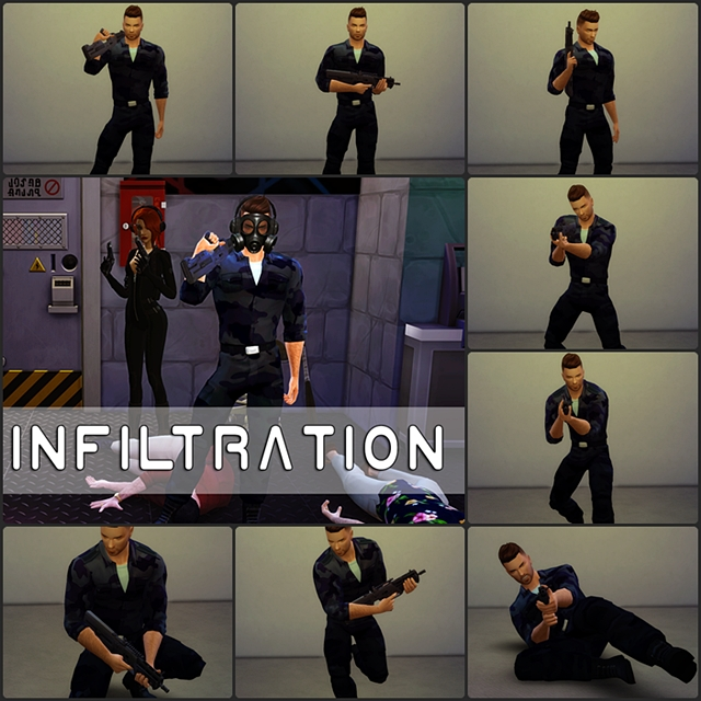 INFILTRATION A Pack of Action Poses by Quiddity-Jones