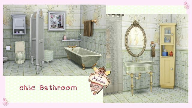 Chic Bathroom by Alelore