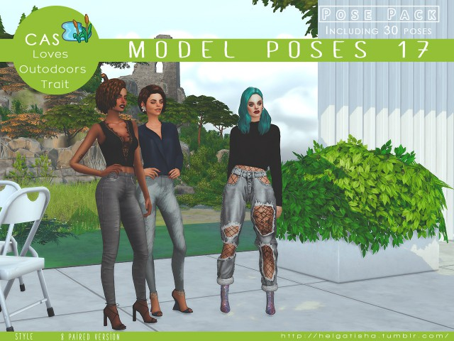 Model poses 17 Pose Pack & CAS by helgatisha