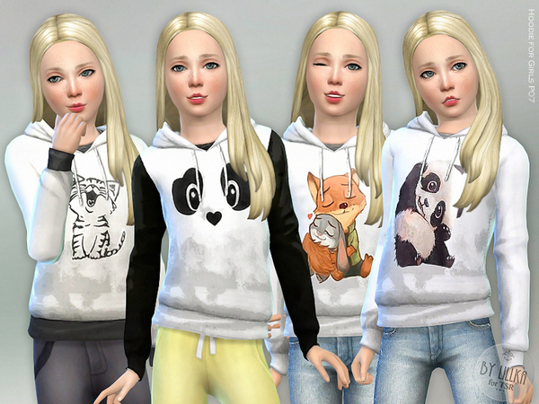 Hoodie for Girls P07 by lillka