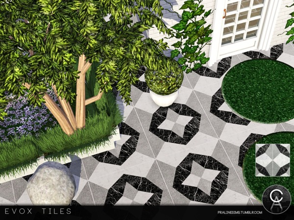 EVOX Tiles by Pralinesims