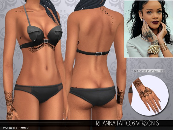 Rihanna Tattoos V3 by Overkill Simmer