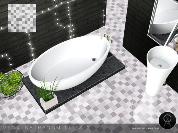 VEOX Bathroom Tiles 2 by Pralinesims