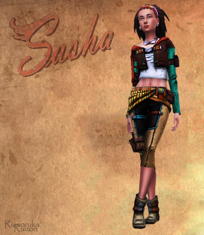 Sasha  outfit, necklace, shoes and earrings by Rumoruka Raizon