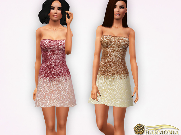 Ombre Sequined Mini Dress by Harmonia