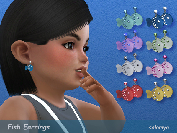 Fish Earrings for Toddlers by soloriya
