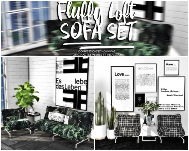 FLUFFY LOFT SOFA SET by Novvvas