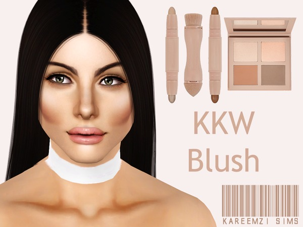 KimKW Contour+Highlight Blush by KareemZiSims