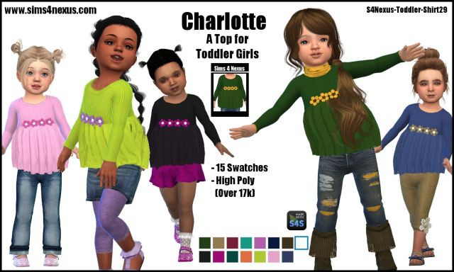 Charlotte top by Sims4Nexus