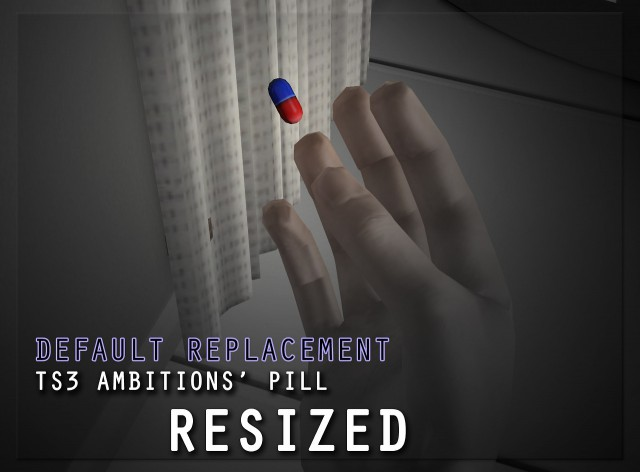 Уменьшенные таблетки из Карьеры DEFAULT REPLACEMENT  TS3 Ambitions Pill Resized by thebleedingwoodland