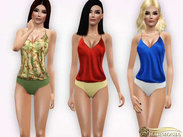 Silk-Satin and Jersey Bodysuit by Harmonia