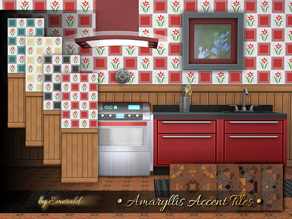 Amaryllis Accent Tiles by emerald