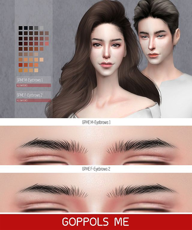 GPME M 1 & F 2 Eyebrows by GoppolsMe