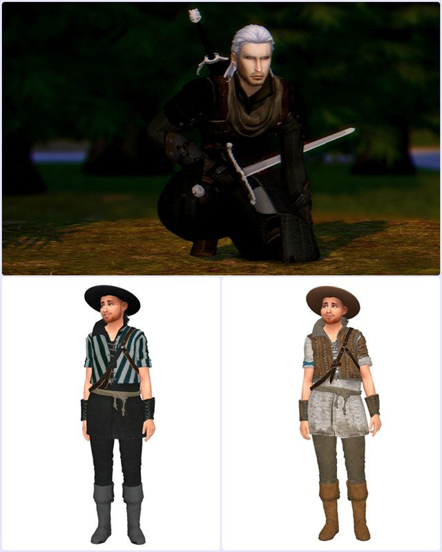 Witcher 3 - Male Outfit & Geralt Set by WinglySimmer