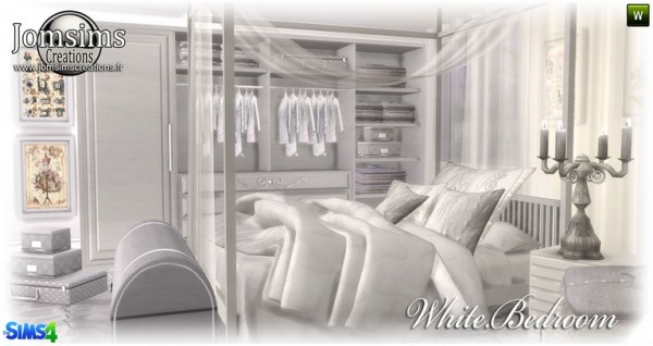 White bedroom by JomSims