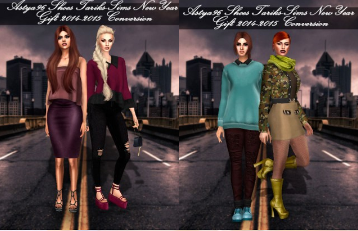 Tariks-Sims Shoes NewYear Gift 2014-2015 Conversion by Astya96