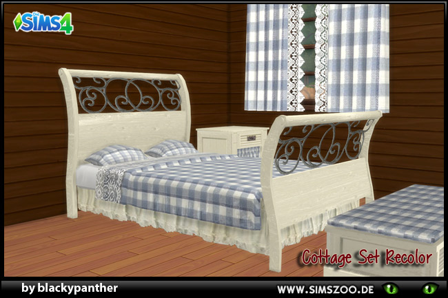 Cottage set  Bed Rec White by blackypanther