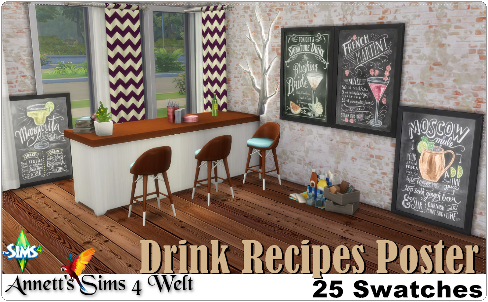 Drink Recipes Poster by Annett85