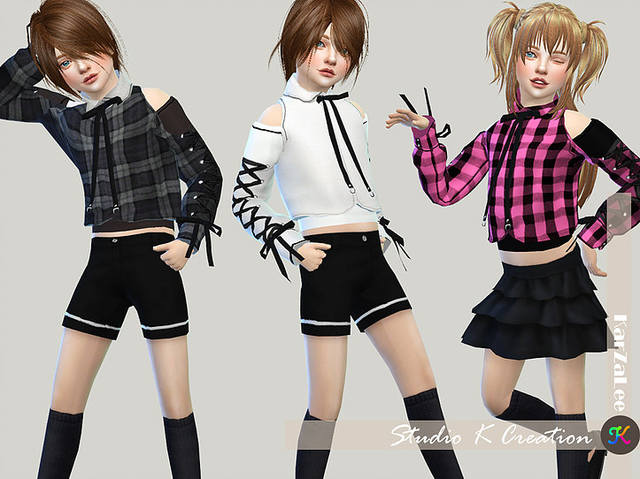 Lace_up Sleeves top-Child by KARZALEE