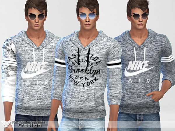 Sporty Hoodie 010 For Him by Pinkzombiecupcakes