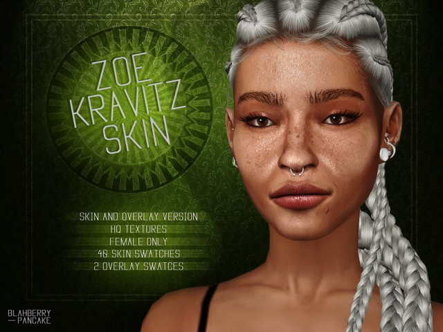 Zoe Kravitz Skin & Eyebrows by Blahberry Pancake